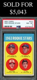 1963 Topps Baseball #537 Pete Rose Rookie - PSA NM-MT 8