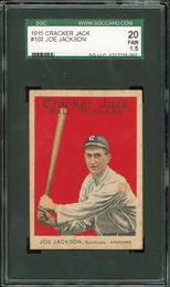 1915 Cracker Jack Shoeless Joe Jackson SGC 20