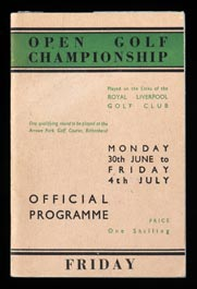 1947 British Open Program at Royal Liverpool