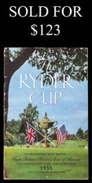 1953 U.S. vs. Great Britain Ryder Cup Program at Wentworth, England