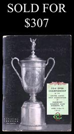 1953 U.S. Open Program at Oakmont - Ben Hogan Winner