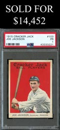 1915 Cracker Jack Ball Players #103 Joe Jackson - PSA Poor 1