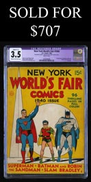 1940 New York World's Fair CGC 3.5 VG- Restored - Superman, Batman & Robin First Cover Appearance