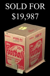 1984 Topps Football Unopened Wax Case of (20) Boxes