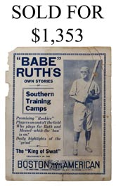 Ultra-Rare 1922 Babe Ruth Broadside Related to Barnstorming Ban by Judge Landis - Possibly Only Known Example!