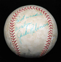 Beautiful Single Signed Jackie Robinson Baseball