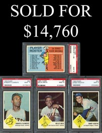 1963 Fleer Baseball PSA Mint 9 Graded Complete Set of (67) Cards Including Checklist - #8 on Registry!
