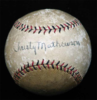 Incredible Single Signed Christy Mathewson Baseball w/ LOA's from BOTH PSA/DNA and JSA