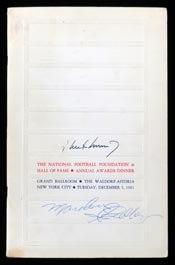 John F. Kennedy Signed 1961 National Football Foundation Awards Dinner Program - Full JSA