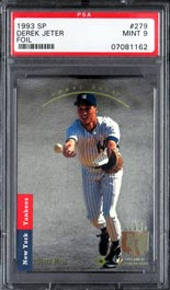 1993 Upper Deck SP Baseball #279 Derek Jeter Rookie Card – PSA MINT 9