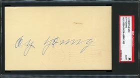Cy Young Boldly Signed 1953 GPC - SGC AUTH