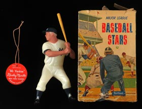 Phenomenal 1958 Mickey Mantle Hartland Statue (Snow White NM/MT beauty!), Name Tag (NM/MT) and Original Box
