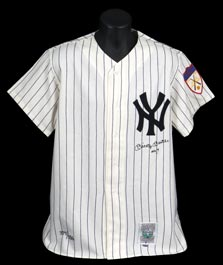 Mickey Mantle Signed LE (#377/536) 1951 Mitchell & Ness Replica Jersey with