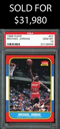 1986-87 Fleer Basketball #57 Michael Jordan Rookie - PSA GEM MINT 10