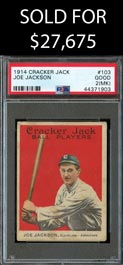 1914 Cracker Jack Ball Players #103 Joe Jackson - PSA Good 2 (mk)