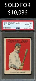 1915 Cracker Jack Ball Players #30 Ty Cobb - PSA Good+ 2.5