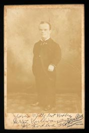 1900s Jerry Sullivan Signed Cabinet Card -