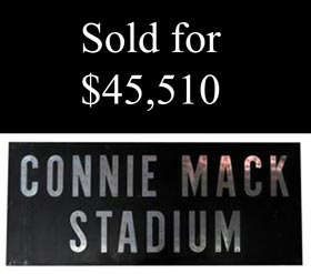 Monumental 1953-1970 Connie Mack Stadium Original Main Entrance Sign