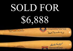 Possibly Unique Hank Greenberg and Sandy Koufax Dual-Signed Cooperstown Bat
