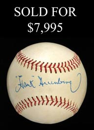 The Finest Hank Greenberg Single Signed Ball