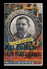 1886 Pittsburg Alleghenys vs. Detroit Wolverines Scorecard (Scored) with Pud Galvin Cover