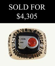 1974 Philadelphia Flyers Stanley Cup Championship 14K Gold Front Office Ring