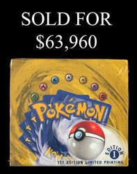 1999 Pokémon 1st Ed Limited Printing English Booster Box!