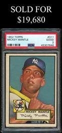 1952 Topps Baseball #311 Mickey Mantle Rookie - PSA Good 2
