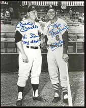 Personalized Mickey Mantle & Stan Musial Signed Photograph To Each Other