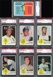 1963 Fleer Baseball Card Complete Set All PSA Graded NM-MT 8
