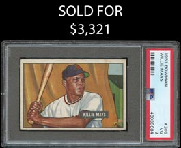 1951 Bowman Baseball #305 Willie Mays Rookie - PSA VG 3