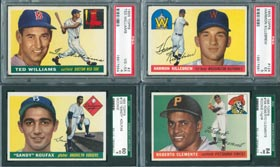 1955 Topps Baseball Card Complete Set with Sandy Koufax and Roberto Clemente Rookie Cards