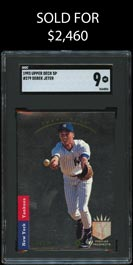 1993 SP Baseball #279 Derek Jeter Rookie SGC Mint 9