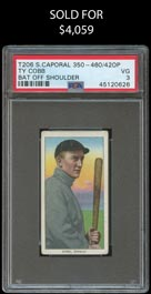 T206 White Borders Ty Cobb (Bat Off Shoulder) - PSA VG 3