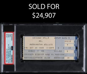 Michael Jordan 1984 NBA Debut Ticket Stub PSA Good 2 (mk)