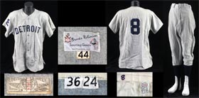 Don Wert 1968 World Series Game 7 Game Worn Game Used Detroit Tigers Baseball Road Uniform Jersey Pants