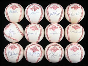1996 New York Yankees World Series Champions Single-Signed Autographed Baseball Lot of (36) With Derek Jeter, George Steinbrenner and more