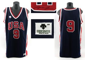Michael Jordan Signed Game-Worn 1984 Team USA Olympic Jersey with Upper Deck Authentication for Autograph