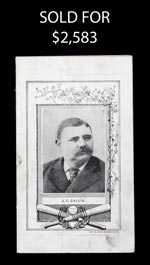 1887 Pittsburg Alleghenys v New York Giants Scorecard with Galvin Cover