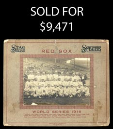 1916 Red Sox World Champions Stag Brand Sweaters Cabinet Photo w/Ruth
