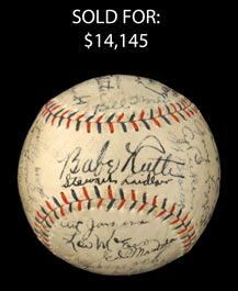 1931 Yankees Team-Signed