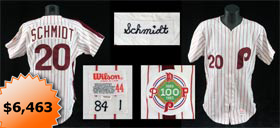 Mike Schmidt 1983 Game-Worn Philadelphia Phillies World Series Home Baseball Jersey