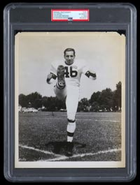 1940s Lou Groza 8x10 Original Photo PSA Type I-Used for 1950 Bowman RC