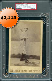 1888 N173 Old Judge Cabinets Bob Caruthers (Bat Ready on Left Shoulder) PSA 4