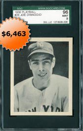 1939 Play Ball #26 Joe DiMaggio SGC 96 MINT 9 Baseball Card - None Better