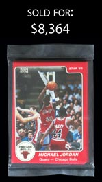 1984-85 Star Basketball Chicago Bulls Sealed Team Bagged Set with #101 Michael Jordan Rookie