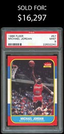 1986-87 Fleer Basketball #57 Michael Jordan Rookie - PSA Mint 9