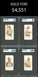 1887 N28 Allen & Ginter Complete Baseball Set (10/10) – All SGC Authentic to 3 VG