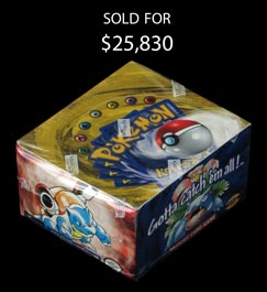1999 Pokémon Unlimited Edition Base Set Unopened Booster Box (United States) - Sealed!