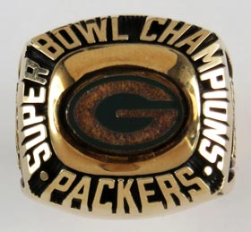 1996 Green Bay Packers 10K Gold Commemorative Super Bowl Ring - LE #333/5000